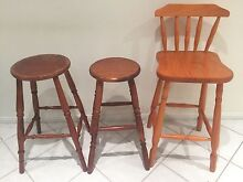 Wooden bar stools (mixed) Shellharbour Shellharbour Area Preview