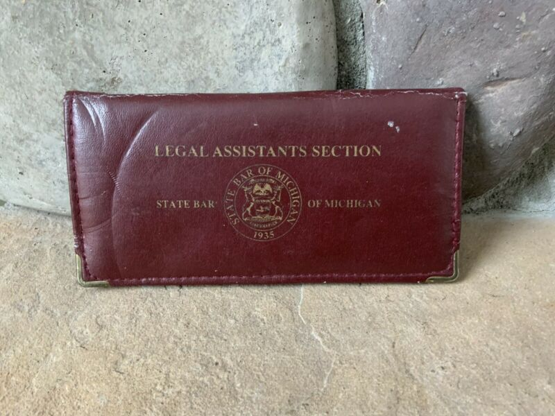 Vintage State Bar Of Michigan 1935 Sewing Kit Legal Assistants Section