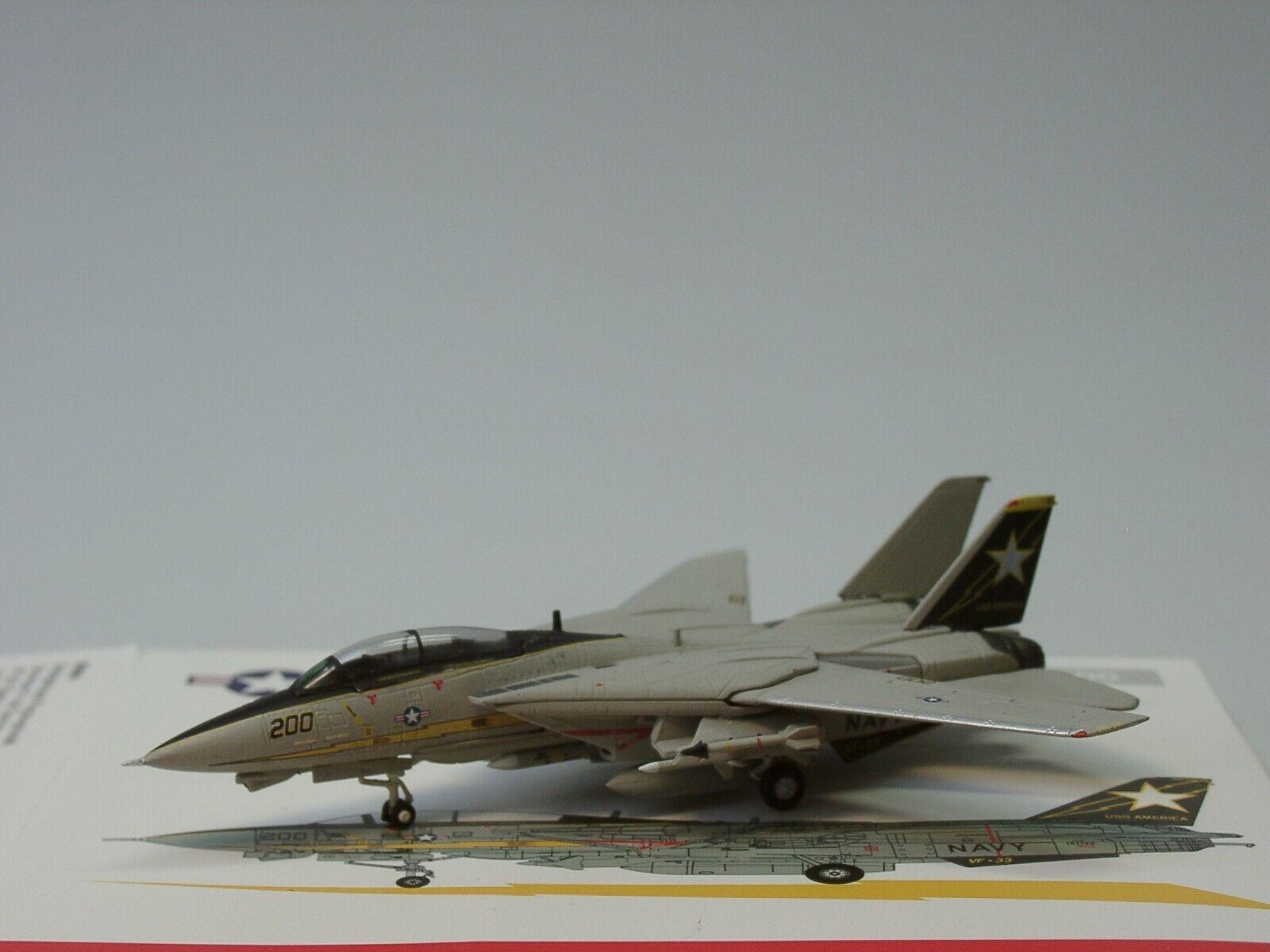 "Navy Grumman F-14A Tomcat U.S.S VF-114 /""Aardvarks/"" Herpa Wings U.S Enterpri"