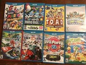 8 Wii U games for sale