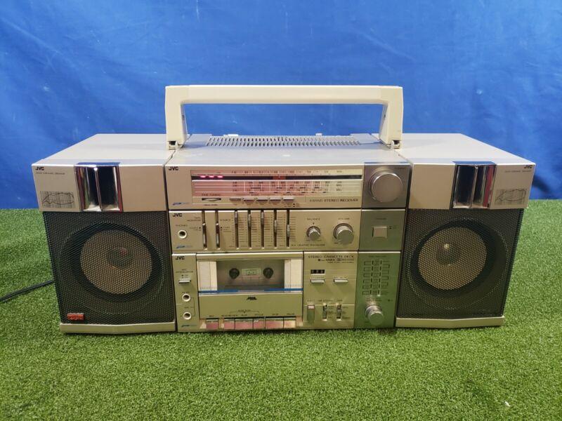 JVC PC-11JW AM/FM/SW Cassette Radio Ghetto Blaster Boombox