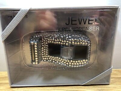 New In Packaging Beadazzled With Silver Rhinestones Tape Dispenser Jewel By Hype