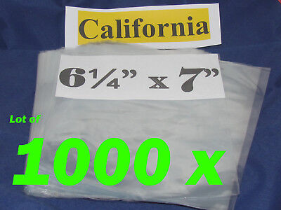 Lot Of 1000 Pic Heat Shrink Wrap Film Flat Bags 6-14x7 Candles Pvc 6 14 X 7