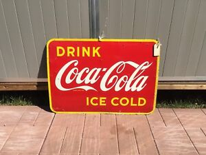 1947 st Thomas drink ice cold Coca Cola sign rare Coke signs