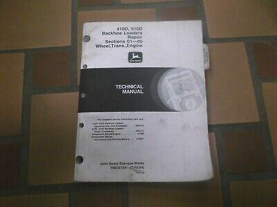 John Deere 410d 510d Backhoe Loader Transmission Engine Service Manual Tm1513