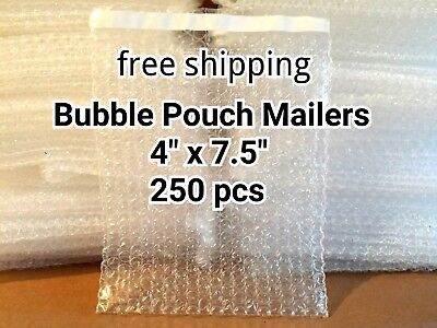 Lots Of 250 4 X 7.5 Bubble Out Bags Pouches Self Seal Mailers Bags Free Ship