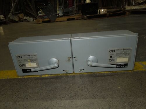 Ge Thfp361 30a Twin 3ph 600v Fused Panelboard Switch W/ Hardware & Side Plates