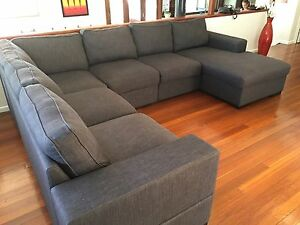 Large Corner Lounge with Chaise 6+ Seater The Gap Brisbane North West Preview