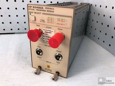 83492a Hp Agilent Optical Triggering Clock Recovery Module 2500 Mbs Calib 2007