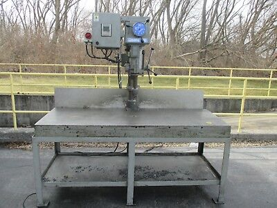 Used Clausing 20 Variable Speed Drill Press Wcustom Table Foot Switch