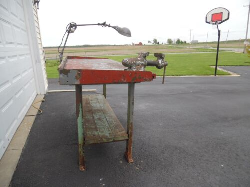 Vtg LYONS Industrial Workbench ONLY ! TABLE LEGS STEEL Kitchen Island Desk