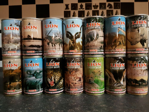 LION - SET OF 14 beer cans - Empty