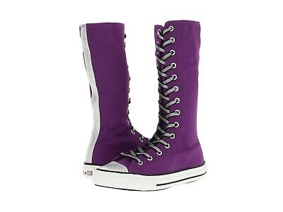 Converse Girls All Star Chuck Taylor Purple Lace Up Sneaker Boot Shoes  Sz 12.5