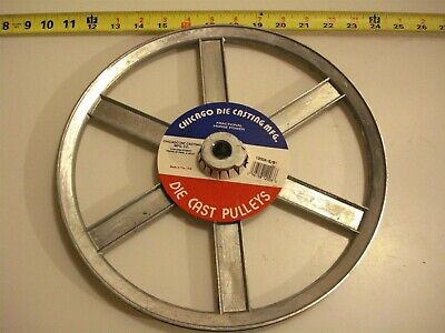 0470. Die Cast Pulley 12 Dia. 58 Bore V-belt A 6-spokes