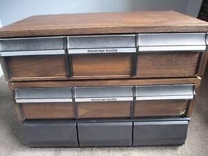 Bulk Buy 30 And 36 Draw Cassette Holders x3 Woodcroft Morphett Vale Area Preview