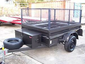 7x5 H/D High Side Box Trailer - Toolbox Cage Leds Jockey Spare Yennora Parramatta Area Preview