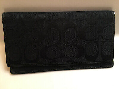NWOT Coach signature checkbook cover holder wallet -