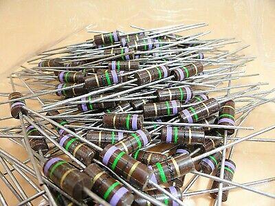Allen Bradley 75 Ohm 1 Watt Resistors Lot Of 150 Y4