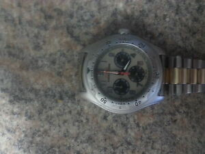 mens Seiko band with Timex expedition watch gold/silver band