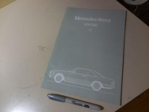 Mercedes-Benz 500SEC Japanese Brochure 1983/11126