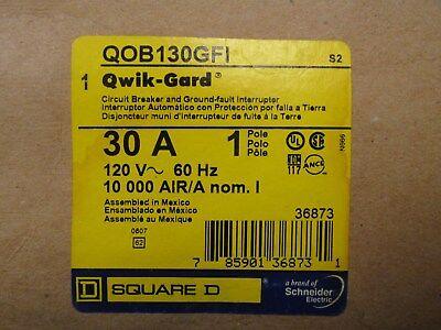 Square D 30 Amp 120 Volt Circuit Breaker Catalog Qob130gfi New In Box
