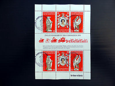 St KITTS & NEVIS & ANGUILLA 1978 Coronation Sheetlet of 6 Fine/Used FP7619