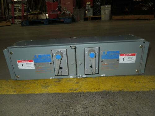 Challenger Qmqb6636r 60/60a 3p 600v Twin Fusible Switch Unit Used