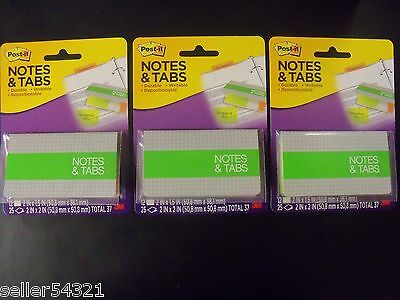 Post-it Notes Tabs Orangeneon Green 36 Tabs-2 X 1.5 75 Notes-2 X 2 3 Pk