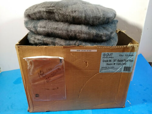 "New 1 Case Of GMT 20"" Radial Steel Wool Floor Pads - Grade 0, 12 Pads/Case"