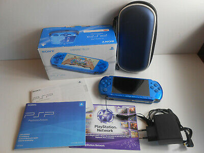Sony Playstation PSP-3004 Slim & Lite Vibrant Blue in OVP, used for sale  Shipping to Nigeria