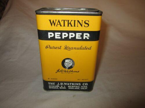 Vintage Watkins Pepper 8oz Tin Nice!!!