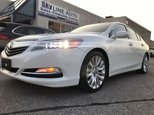2014 ACURA RLX TECH PKG P-AWS 1 OWNER ACCIDENT FREE NAVI LEATHER