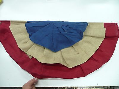 Pottery Barn Burlap Bunting Americana Swag 4th of July decoration imperfect - 4th Of July Bunting Decorations
