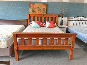 TODAY DELIVERY MODERN STRONG SOLID WOOD Queen bed & mattress Belmont Belmont Area Preview