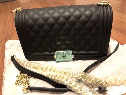 bcdb051ac9b7 Chanel Leather Black Bag Boy Style - Large Size | Bags | Gumtree ...