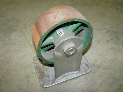 Heavy Duty Ductile Cast An Steel Rigid Caster Wheel 5-34 X 2-14