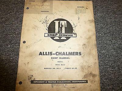 Allis Chalmers Model Wd45 Diesel Row Crop Tractor Shop Service Repair Manual Ac5