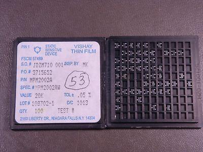 Mpm2002aw Vishay Thin Film Resistor Divider Network 10k 10k Ohm 0.1 15w Nos