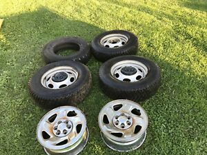 DODGE WINTER SNOW TIRES AND RIMS 6 BOLT