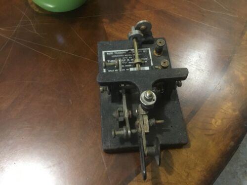 Theodore R. McElroy Radio Telegraph Morse Code Transmitting Standard Model Mac