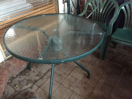 Glass outdoor table and 4 chairs Patterson Lakes Kingston Area Preview
