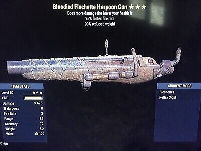 fallout 76 xbox one Bloodied FFR Harpoon