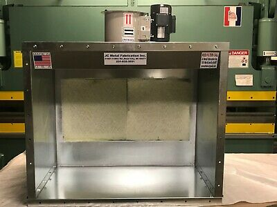 4 Wide Table Top Powder Coat Paint Booth 1 Phase - Made In Usa