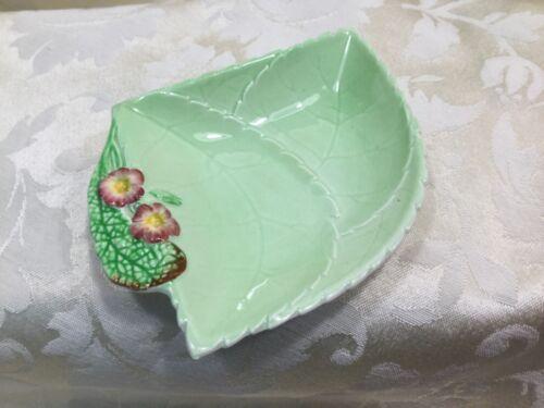 VTG.Carlton Ware Green Wild Rose Dish,Pastel Mint & Rose Plate. made in England