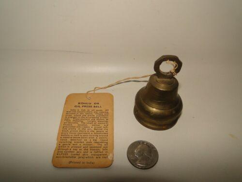 Vintage Bells Of Sarna brass bells with tag Kohlu or oil press Bell