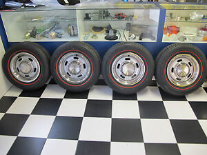FORD FALCON 5 SLOT RIMS AND TYRES SUIT XR XT XW XY GT GS SMALL CENTRE 205/70/14