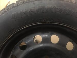 215/60/16 hankook winters 80%tread left