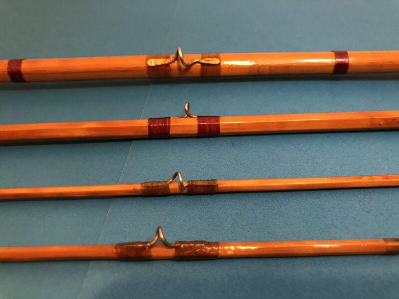 Antique Split Cane Fly Fishing Rod In Original Case 10 Feet Long