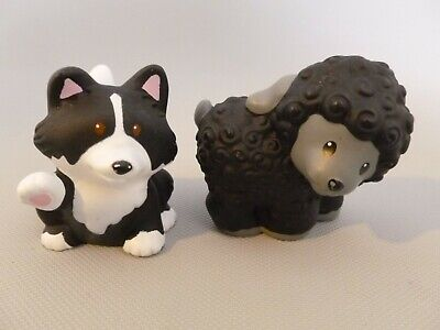 Fisher Price Little People Nativity Black Sheep and Black White Sheep Dog