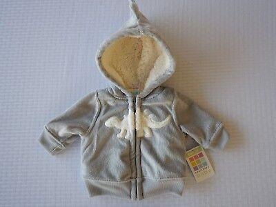 Healthtex Infant Baby Toddler Boys Grey Dinosaur Jacket Sweatshirt Fleece Hoodie ()
